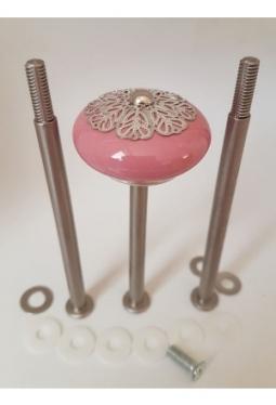 Blätterwald rosa 100-80-100 silbermatt